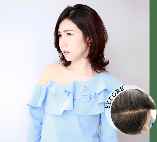 明るい髪色だけではなくツヤも出せる落ち着いた色味